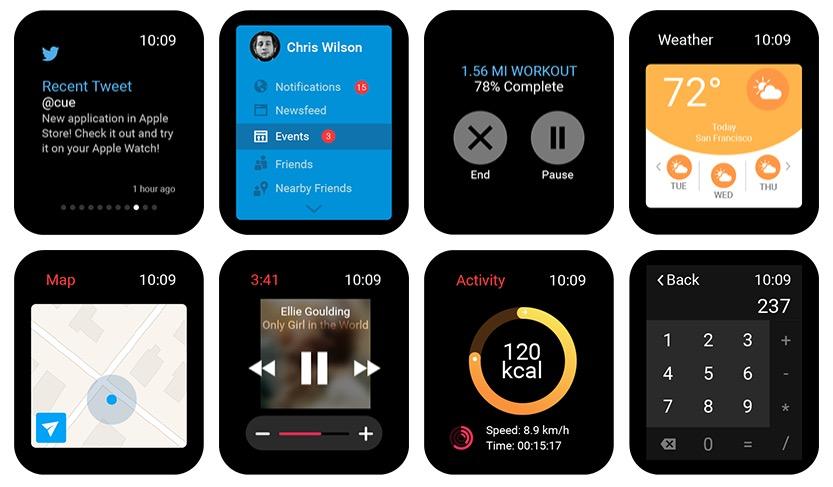 Compilado de elementos UI para Apple Watch