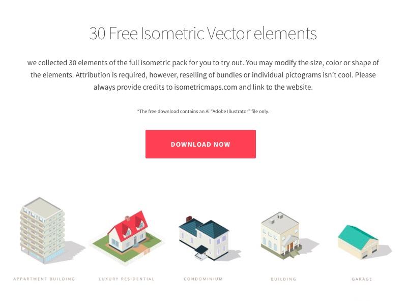 Iconos para mapas con vista isométrica