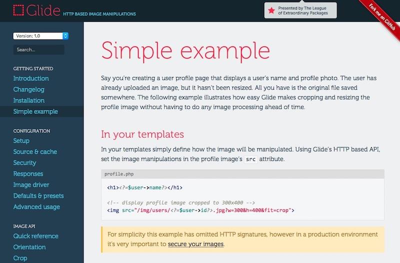 """glide: biblioteca PHP para trabajar con imágenes alojadas en la """"nube"""""""
