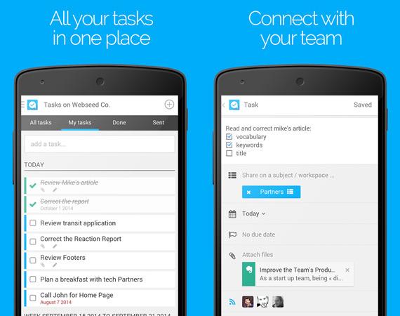Gestionar proyectos grupales en Android con Azendoo