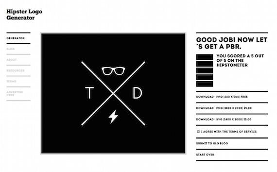 Generador de logos estilo hipster