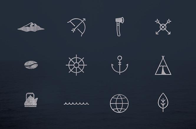 Paquete de logos estilo vintage