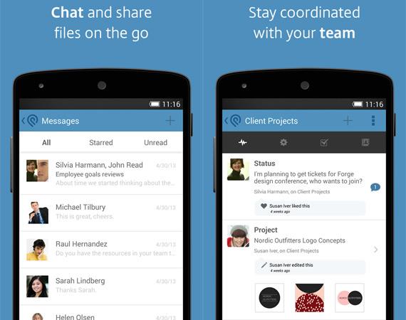 Gestionar proyectos grupales en Android con Podio