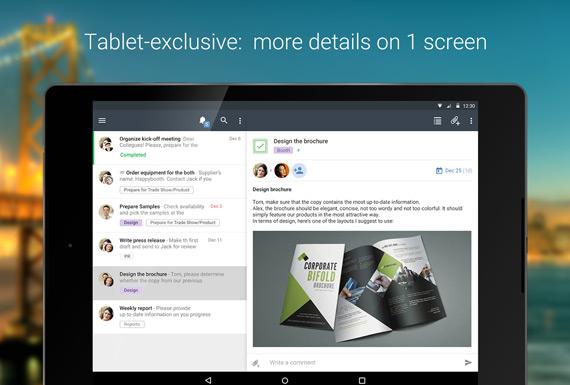 Gestionar proyectos grupales en Android con Wrike