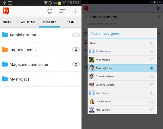 Gestionar proyectos grupales en Android con hi Task