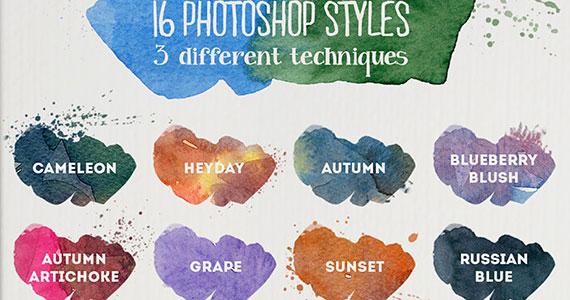 Recursos estilo acuarela - Kits de acuarelas para Photoshop