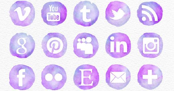 Sitio Del Día Picons Iconos De Redes Sociales Para: Compilado De Elementos Para