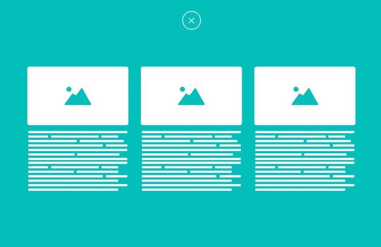 animatedModal.js : Plugin jQuery para animar transiciones a pantalla completa