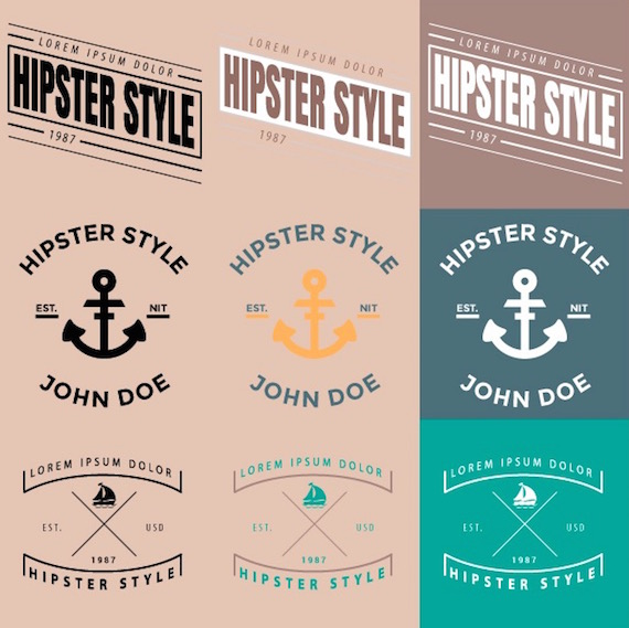 Recursos gráficos de temática hipster