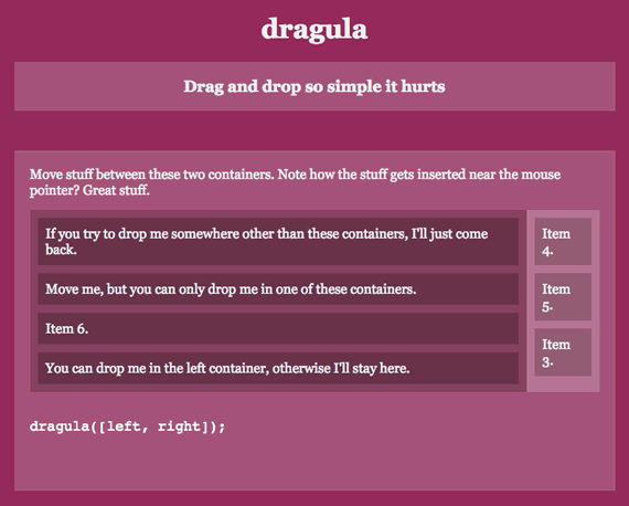 Dragula: hacer Drag and Drop nunca fue tan fácil