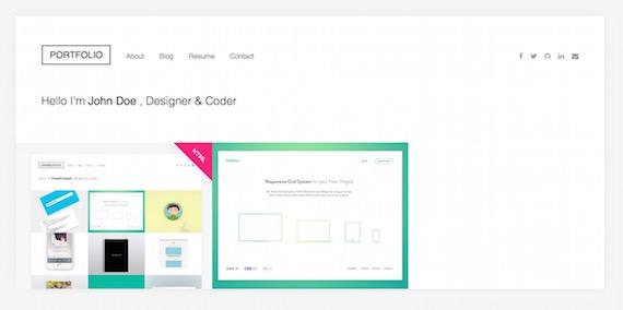 Dribbblefolio: plantilla para portfolio en HTML