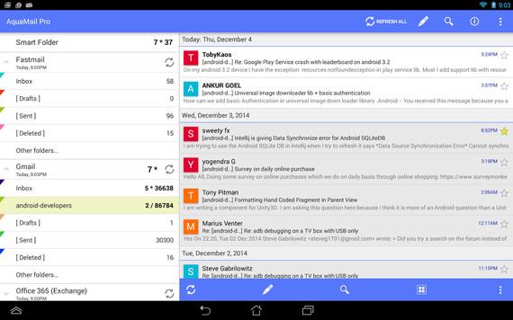 Apps de correo electrónico para Android