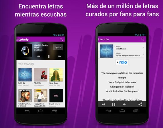 Apps para ver letras de canciones en Android