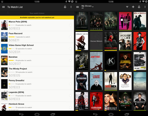 Apps Android para seguir series de TV