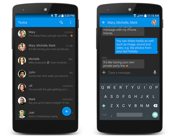 Apps Android alternativas para SMS