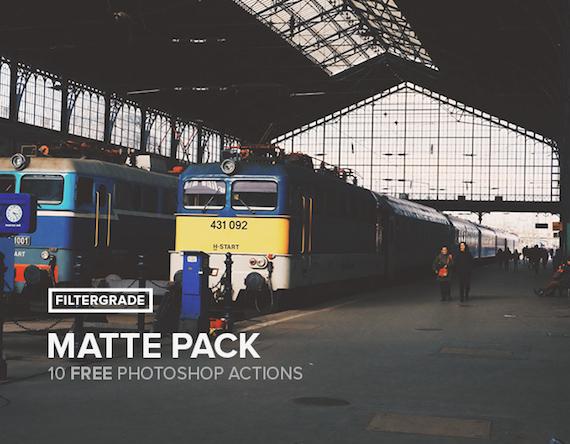 10 Matte Photoshop Actions