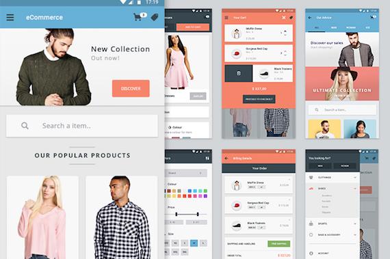 Materia: elementos UI para app de comercio electrónico