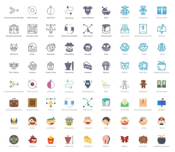 Smashicons: colección de 100 iconos en 4 estilos diferentes