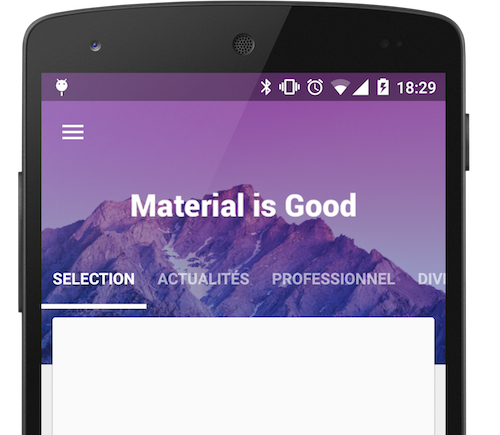 Recurso gratuito para Android: Material View Pager
