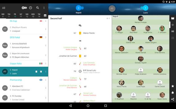 Apps Android para ver resultados deportivos