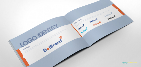 Plantilla para cuadernillo de directrices de marca