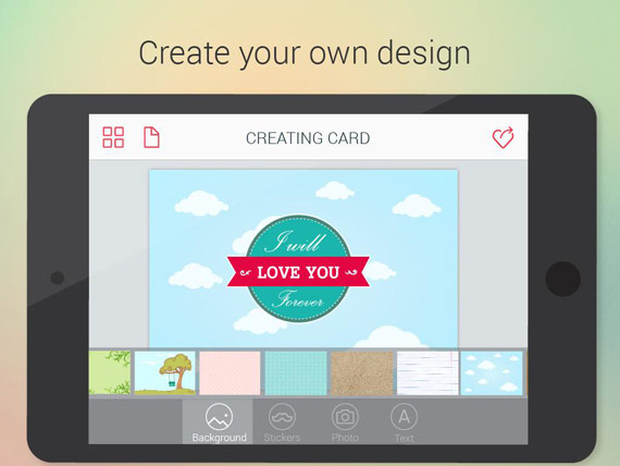 Crear tarjetas de felicitación en Android