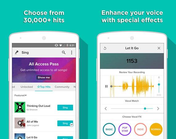 Los mejores karaokes para Android
