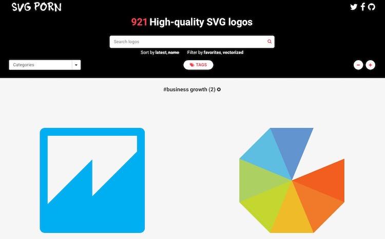 Una increíble colección de iconos en formato SVG para programadores