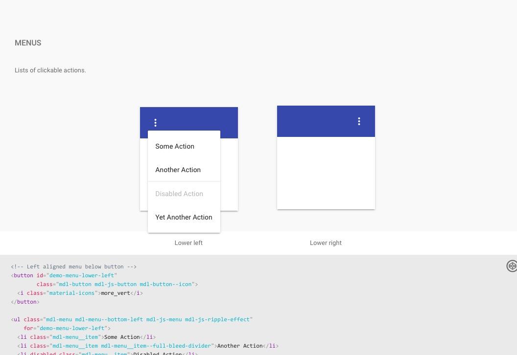 Material Design Lite para diseño Web