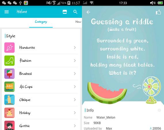 Apps para cambiar el tipo de fuente en Android