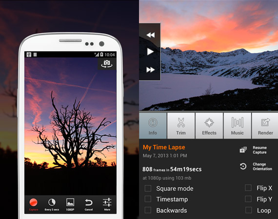 Aplicaciones para crear videos timelapse en Android