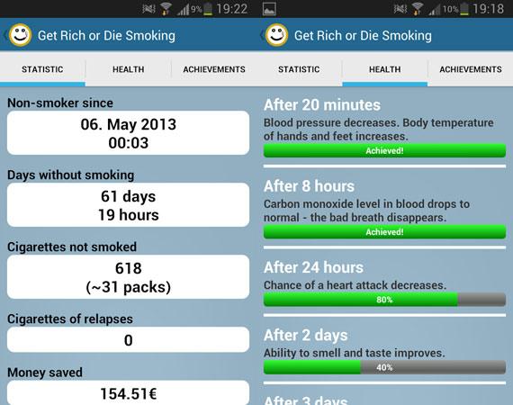 Aplicaciones Android para dejar de fumar