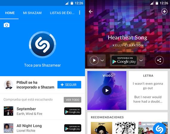 Aplicaciones Android para reconocer canciones