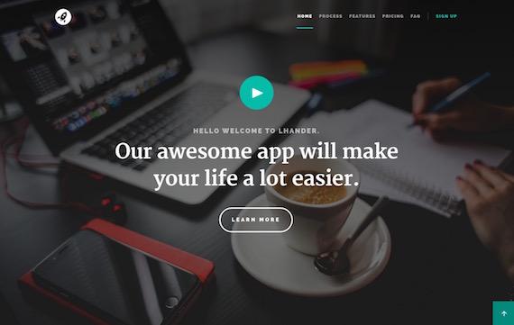 Lhander: plantilla web HTML5 y CSS3