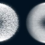 Esferas abstractas en formato vector