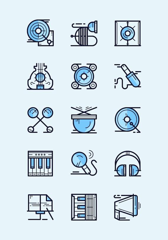 Paquete de iconos sobre música en formato .SVG