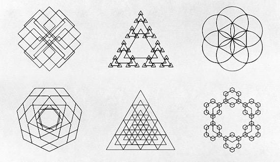 Figuras geométricas vectorizadas en varios formatos