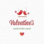 Imágenes para San Valentín estilo acuarela