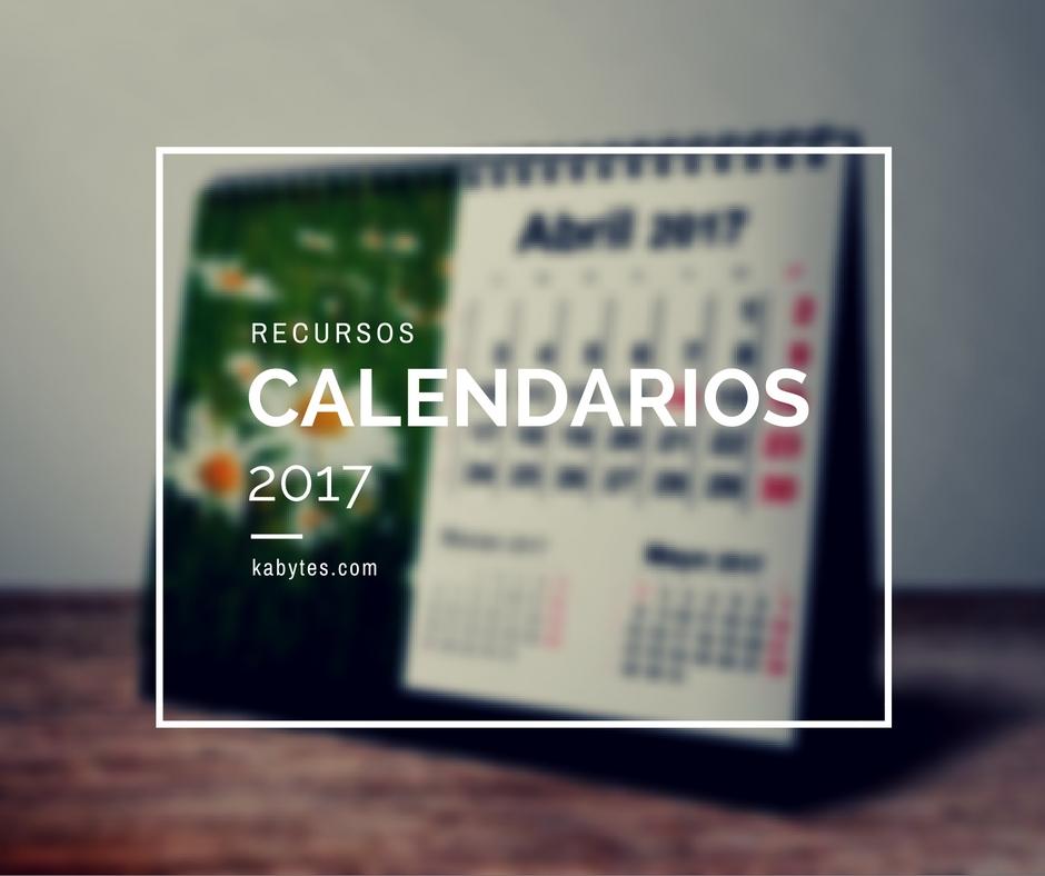 Plantillas de calendarios 2017 para imprimir