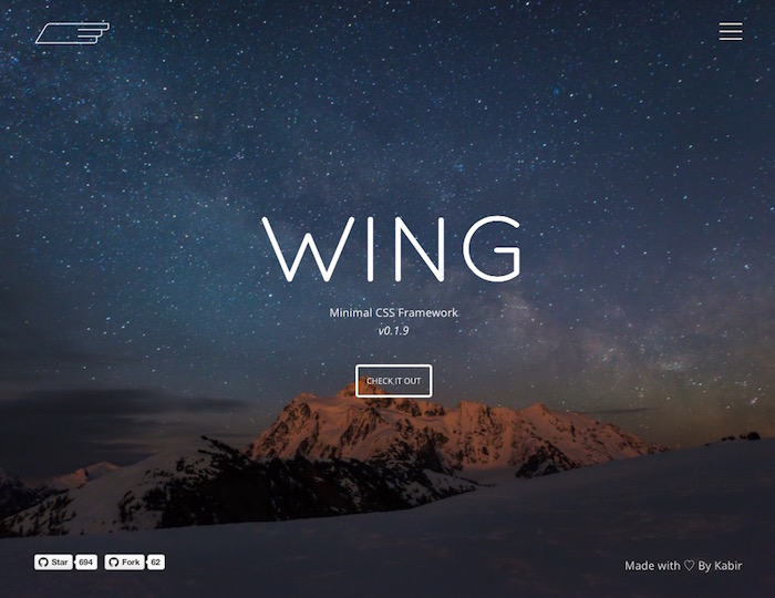 Wing, alternativa minimalista a Bootstrap
