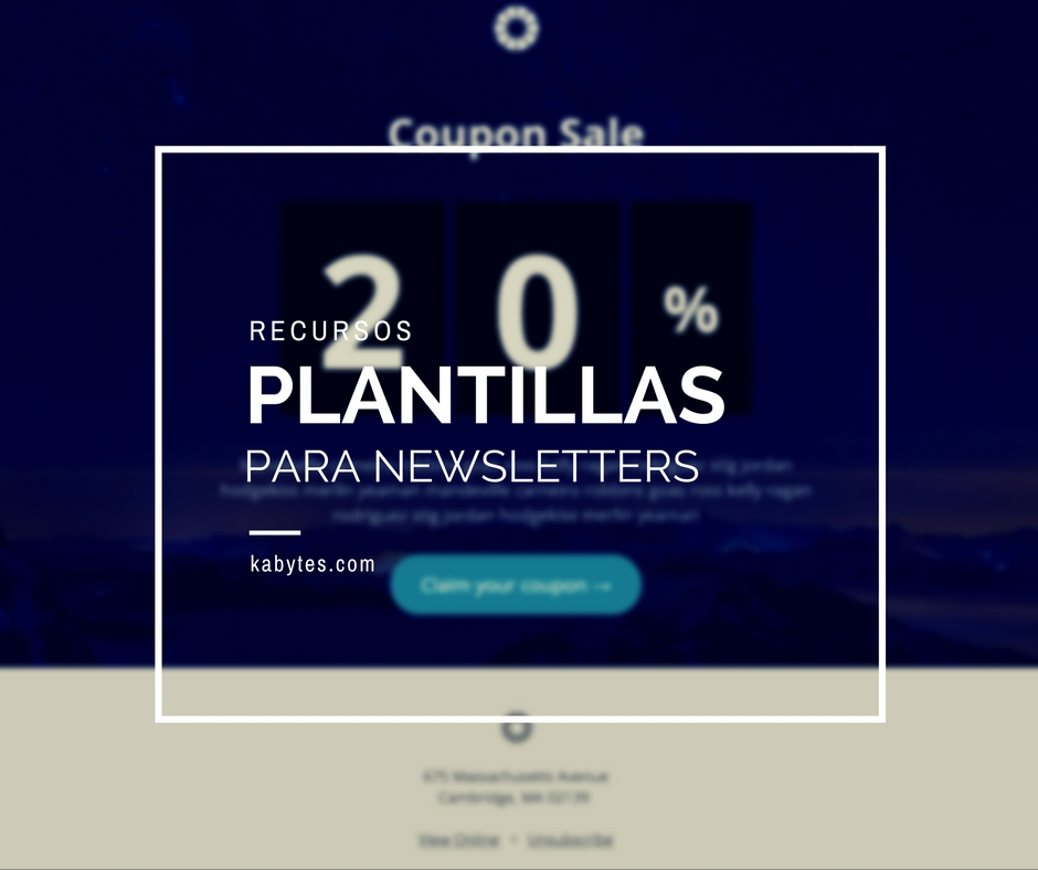 Plantillas HTML para newsletters adaptables