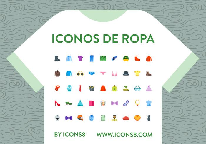 Iconos de ropa estilo plano a todo color de Icons8