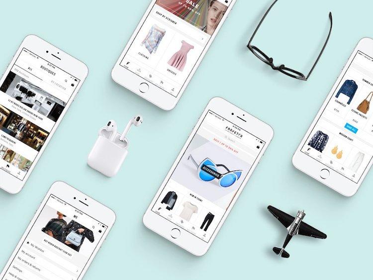 Colección de imágenes para mock-ups de iPhone
